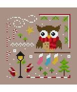 Owl Christmas Ornie 1 PDF cross stitch chart Helga Mandl Designs - $5.00