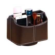 PU Leather 360 Degrees Rotatable Remote Control Holder, 5 Compartments C... - €20,65 EUR