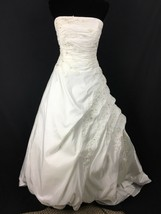 Sequin Embellished A-line Strapless Wedding Gown Dress Size 8 - $699.99