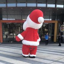 Christmas Inflatable Santa Claus Mascot Costume Saint Nick Suits Cosplay Plush P image 5