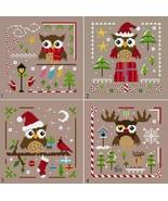 Owl Christmas Ornies + FREE Merry Xmas PDFcross stitch chart Helga Mandl... - $14.00