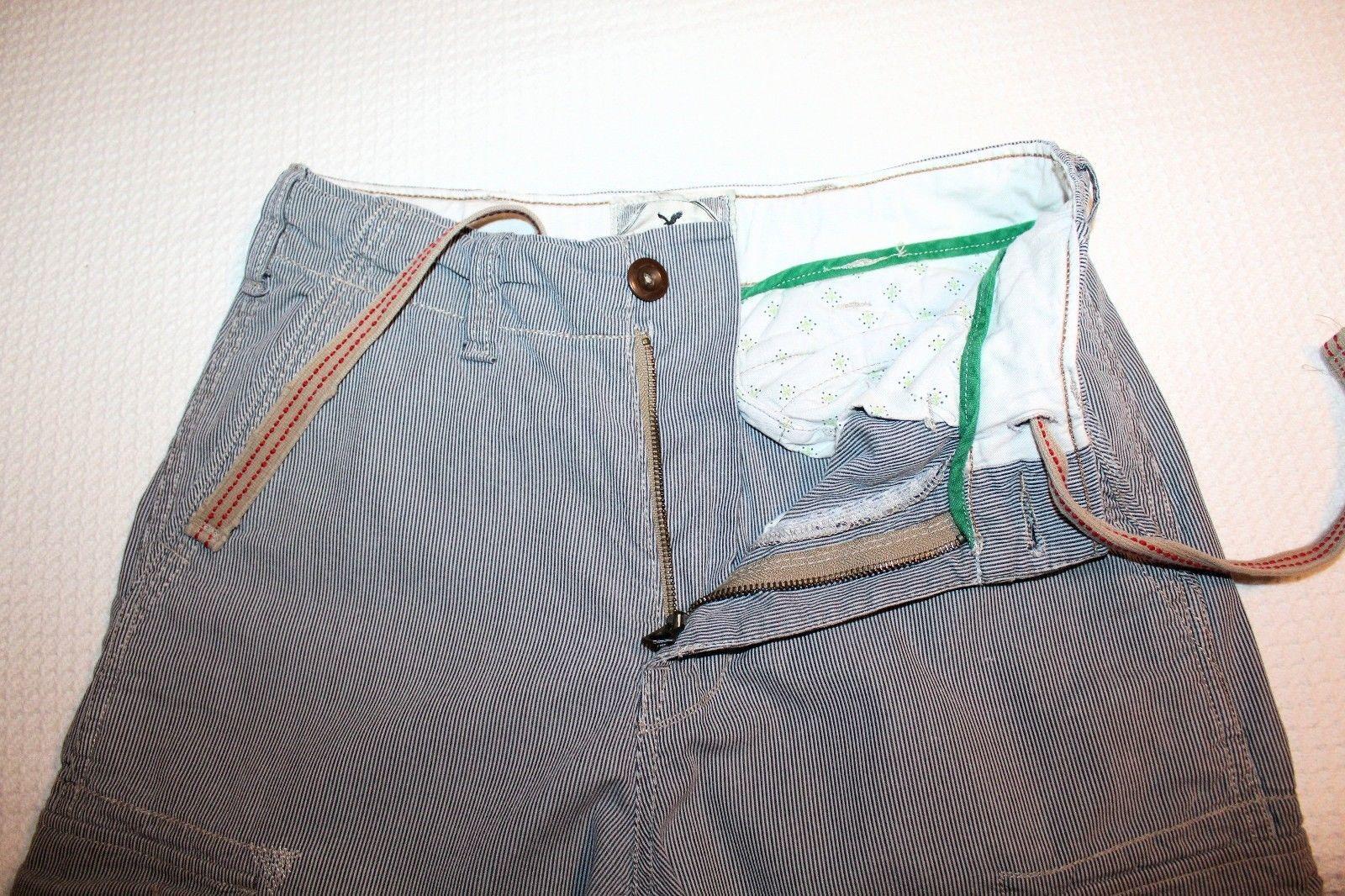 Vintage AMERICAN EAGLE Men's Size 28 Seersucker Cargo Longer Length Shorts