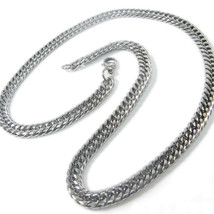 Stainless Steel Double Link Curb Chain Necklace... - $24.24