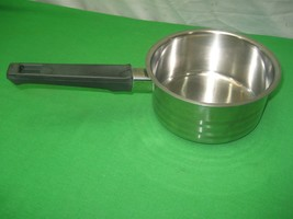 Lucent 18/8 Stainless Steel 1Qt Sauce Pan with Black Bakelite Handle Korea - $9.46