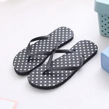 Women Beach Slippers Summer Fashion Casual Flip Flops Polka Dot Rubber F... - $10.99