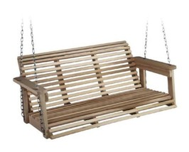 Home Garden Yard Outdoor Living Play Porch Swing Benches Wooden Furnitur... - $128.20