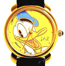 Donald Duck Seiko Jaz Watch, Unworn HTF Rare Easy Read Gold Dial & Case ... - $87.96