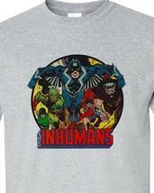 The Inhumans T-shirt superhero Black Bolt distressed cotton blend graphic tee image 1