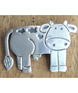 Sterling Silver Cow Pin Whimsical Animal Jewelr... - $22.99