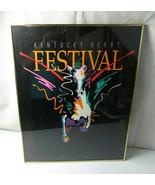 Rare large vintage Pop Art Deco Poster Pegasus Kentucky Derby 1991 by Je... - $120.00