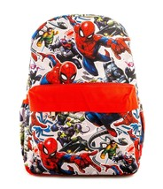 Spider-man Backpack 16 inch Printed Deluxe Bag With Insulated Laptop Compartment - $24.45