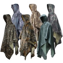 Military Raincoat Impermeable Army Camo Rain Coat Men Women Fishing Hunt... - $36.51