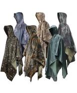 Military Raincoat Impermeable Army Camo Rain Coat Men Women Fishing Hunt... - $36.51