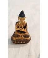 "Buddha Dharmachakra Mudra 3"" Statue Buddhist Vintage Brass Bronze  - $123.75"
