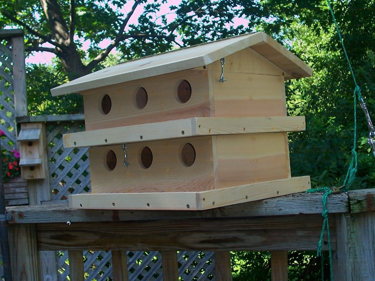 TWO STORY PURPLE MARTIN BIRDHOUSE. - $249.00