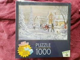 NIB SEALED Wrebbit 1000 Piece Puzzle The Original Six Winter Scene - $14.85