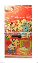 JAKE & THE NEVER LAND PIRATES* 32 Cards+Stickers VALENTINES DAY For Kids... - $2.98