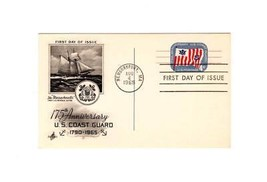 "PICTURE POSTCARD- ""175th ANNIVERSARY US COAST GUARD"" - FIRST DAY OF ISSU... - $2.94"