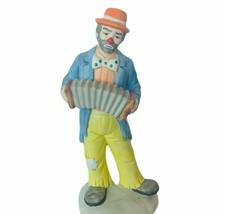 Emmett Kelly Clown Figurine Flambro accordion vtg carnival circus creepy... - $38.65