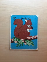 Vintage 70s Jaymar squirrel puzzle- art by Mary Warren