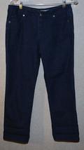 DKNY Capri Jeans Dark Denim Womens 8 Blue Jean Stretch Capris Cropped - $14.80
