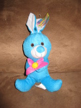 "BLUE BUNNY w FLOWER MINI Brand New Plush Stuffed Animal W TAGS 9"" BEANPALS - $3.99"