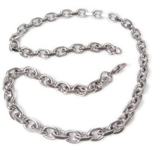 "Stainless Steel 2 Faceted Cable Chain Mens Necklace 9.5mm 40"" - $25.00"