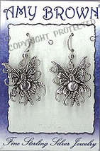 Amy Brown Sterling Silver Bubble Rider Fairy Earrings - $19.95