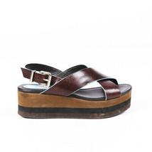 Fendi Leather Slingback Platform Sandals SZ 37 - $105.00