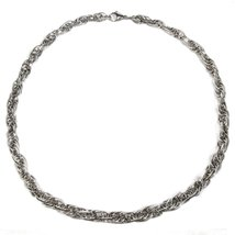 "Stainless Steel Loose Rope Chain Necklace 9mm 35"" - $19.30"