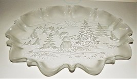 "Mikasa Holiday Classics Large 17"" Oval Platter Girl & Christmas Tree Ger... - $39.59"
