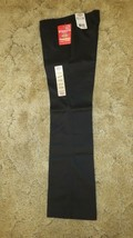 Dickies Girl's Stretch Wide Band Junior Pant Classic Fit Black Sz 3RG 29... - $14.80