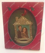 Reed And Barton Our First Christmas Ornament 1996 House Shape  Photo Frame - $3.99