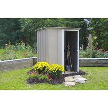 Metal Storage Shed Building 5 x 4 Sliding Single Lockable Door Outdoor G... - $231.53