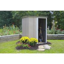 Metal Storage Shed Building 5 x 4 Sliding Single Lockable Door Outdoor G... - $231.53