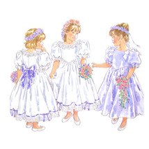 New Look Sewing Pattern 6544 Special Occasion Dress Flower Girl 2 3 4 5 ... - $6.95