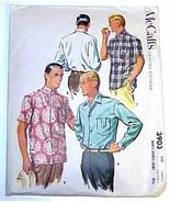 1956 MEN'S SHIRTS Pattern 3903-m Size Small UNCUT - $9.99