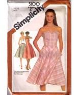 1981 SUNDRESS Pattern 5100-s Size 12 - UNCUT - $9.99