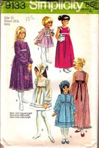 1970 DRESS & SCARF Pattern 9133-s Girl Size 10 - UNCUT - $9.99