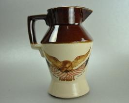 Vintage McCoy Small Pottery Jug Pitcher Eagle Flag - $12.00