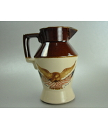 Vintage McCoy Small Pottery Jug Pitcher Eagle Flag - $12.00