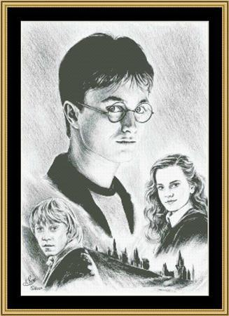 Primary image for Hollywood Greats Old Friends Harry Potter cross stitch chart Mystic Stitch