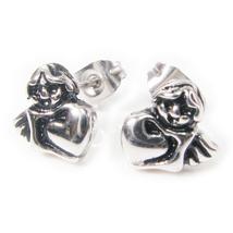 Pair Stainless Steel Cute Silver Cupid Post Stud Earrings 7mm - $9.50