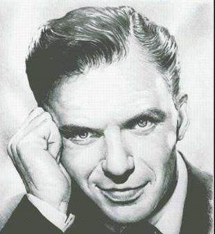 Hollywood Greats Frank Sinatra Young Frank cross stitch chart Mystic Stitch