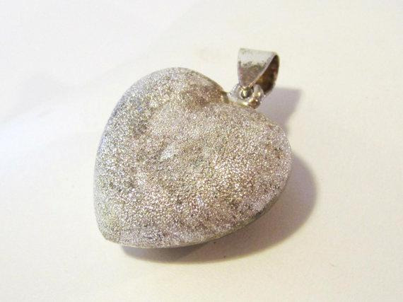 Sterling silver 925 Puffy Heart pendant