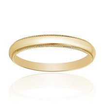 14K Yellow Gold Comfort Fit Mens Wedding Band - $296.01