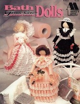 Bath Tissue Cover Dolls Annie's Plastic Canvas PATTERN/INSTRUCTIONS NEW  - $5.37