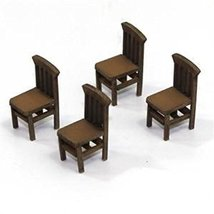 28mm Furniture: Light Wood Banister Back Chair (A)