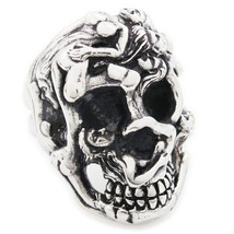 Stainless Steel Women Skull Men Biker Ring US Size 13 - $12.99