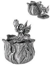 Pewter Poppy Bud Fairy Box - $12.00
